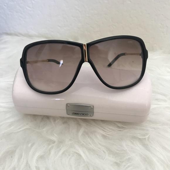 5441c3ed3a4 Jimmy Choo Accessories - Jimmy Choo Brown Aviator Sunglasses Kim Kardashian